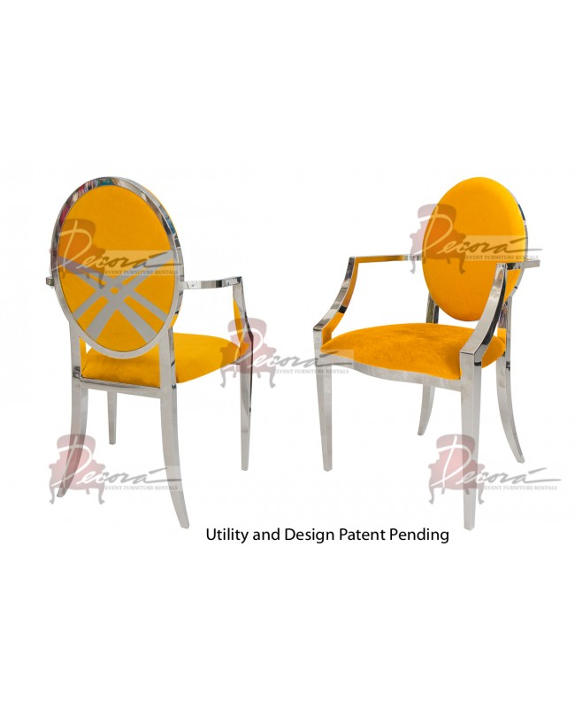 Lasso Armchair (Silver-Yellow)