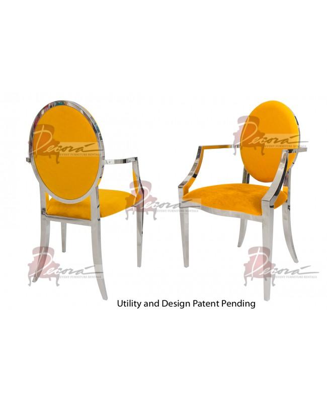 Tiffany Armchair (Silver-Yellow)