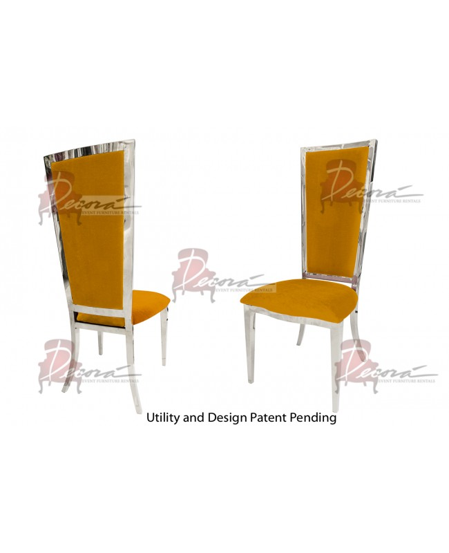 Vanderbilt Chair (Silver-Yellow)