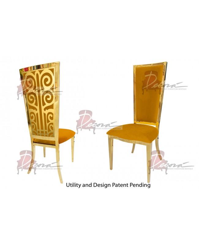 Valentino Chair (Gold-Yellow)