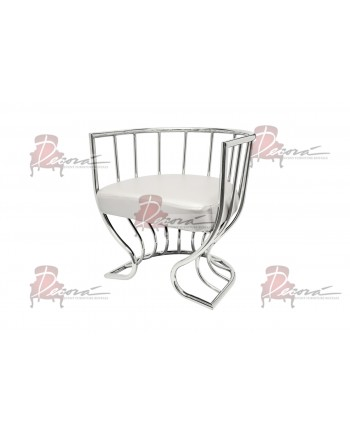 Reflection Accent ArmChair (Tulip) (Silver)