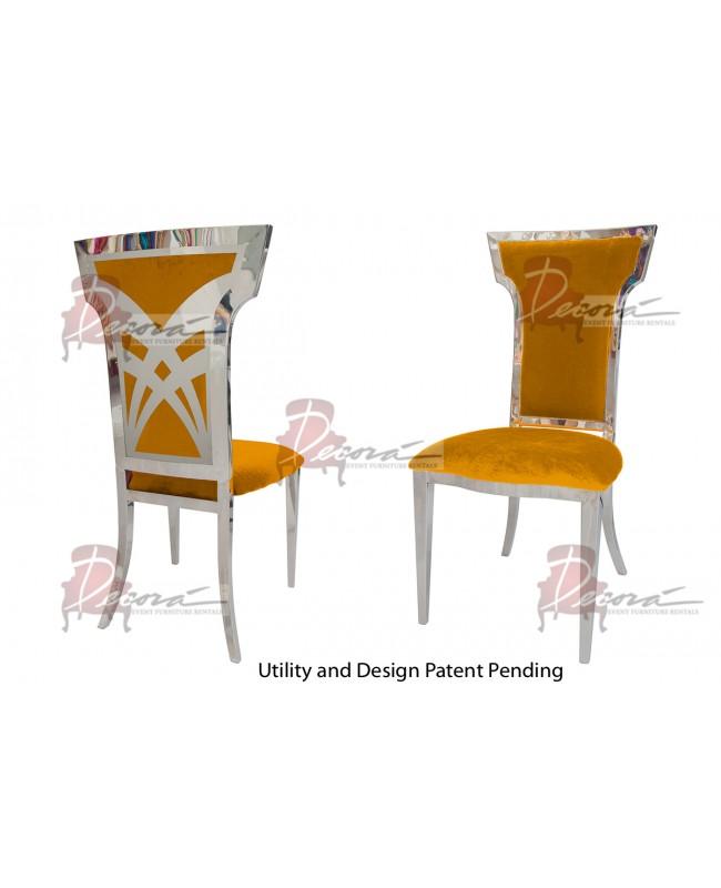 Titan Chair (Silver-Yellow)