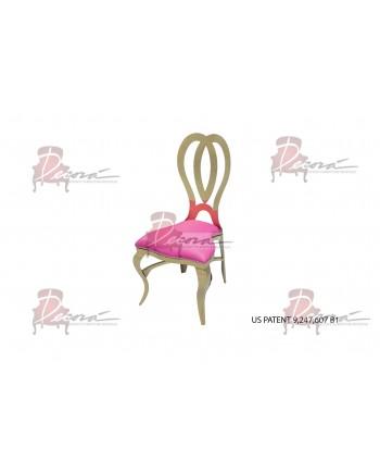 Halexandria Chair (Gold-Hotpink)