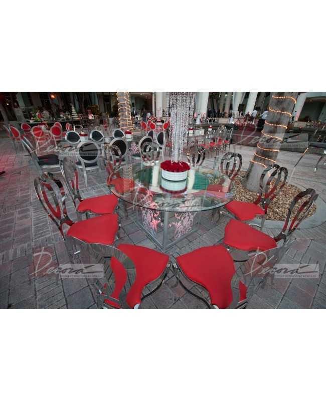 Halexandria Chair (Silver-Red)