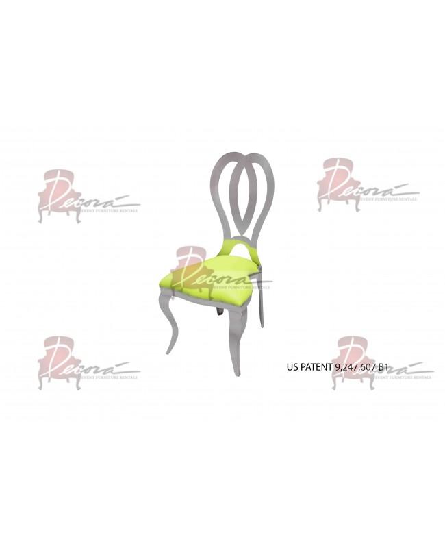 Halexandria Chair (Silver-L.Green)