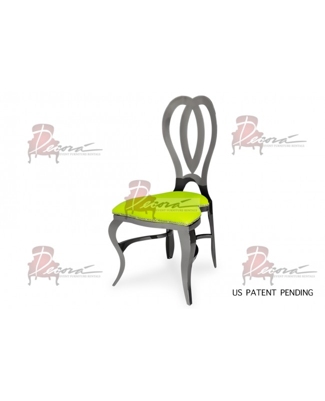 Halexandria Chair (Gun Metal-L.Green)