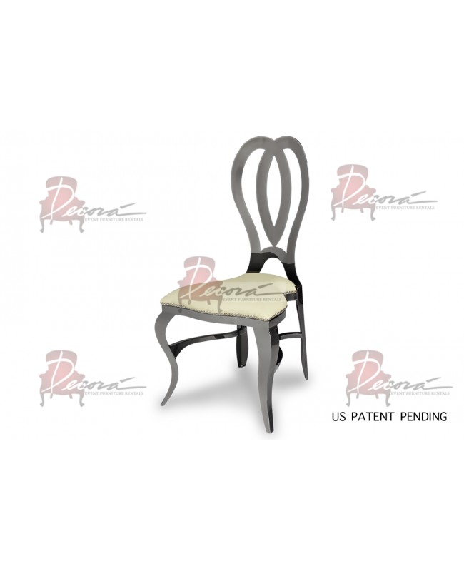 Halexandria Chair (Gun Metal-Ivory)