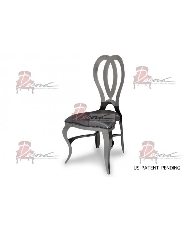 Halexandria Chair (Gun Metal-Pewter)