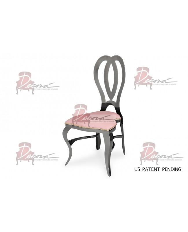 Halexandria Chair (Gun Metal-Pink)