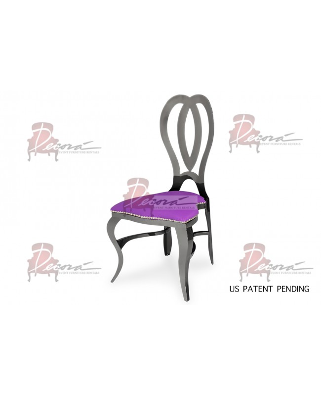 Halexandria Chair (Gun Metal-Purple)