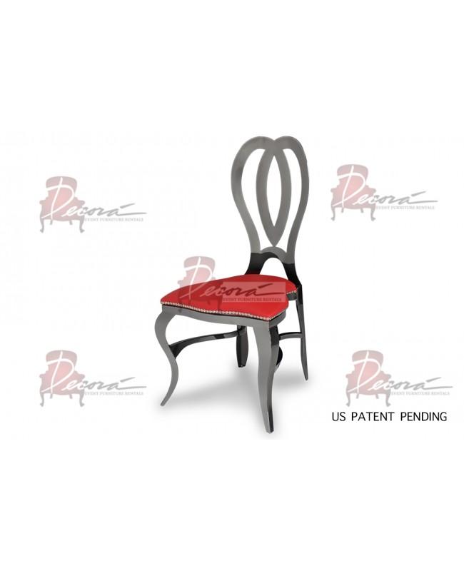 Halexandria Chair (Gun Metal-Red)