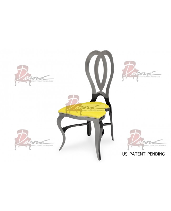 Halexandria Chair (Gun Metal-Yellow)