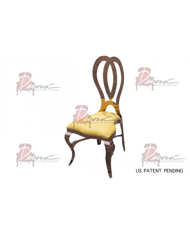 Halexandria Chair (Rose Gold-Yellow)