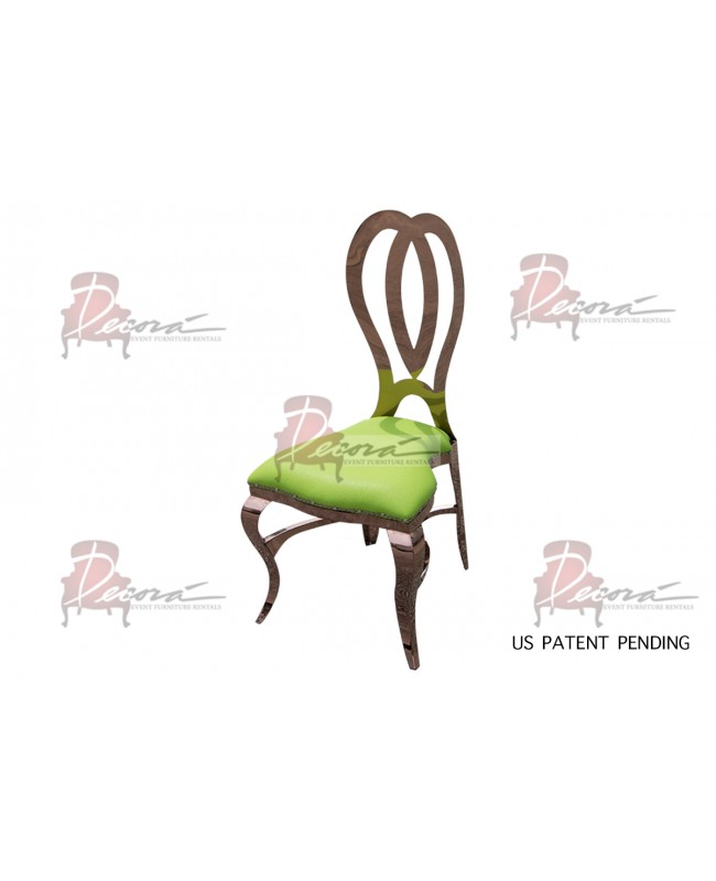Halexandria Chair (Rose Gold-L.Green)