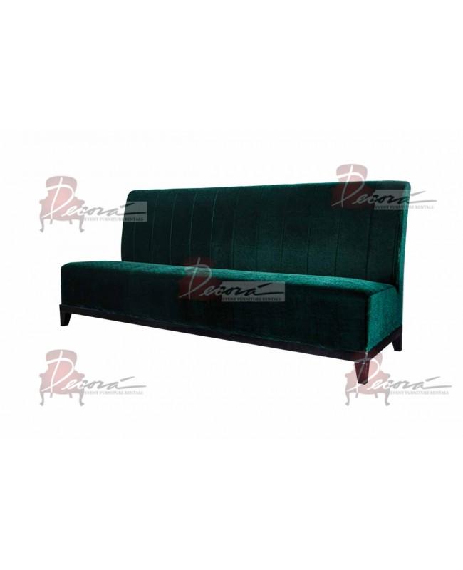 Velvet Sofa 7' with Lines (Emerald)