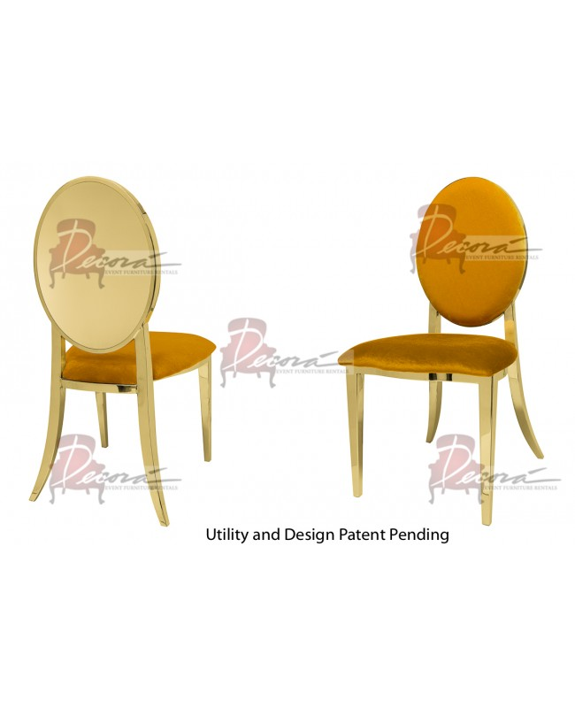 Reflection Chair Round (Gold-Yellow)