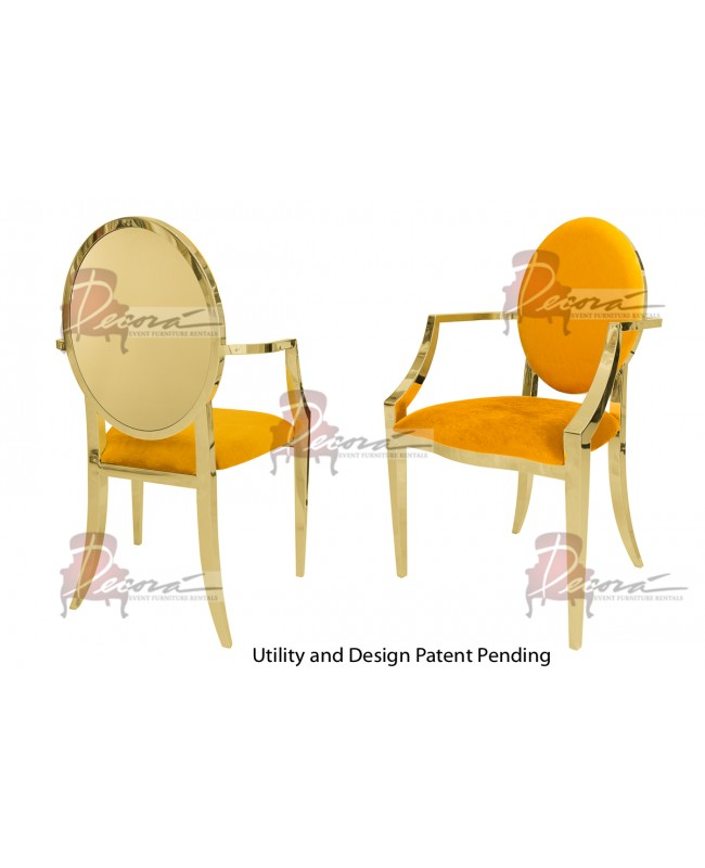 Reflection Armchair Round (Gold-Yellow)