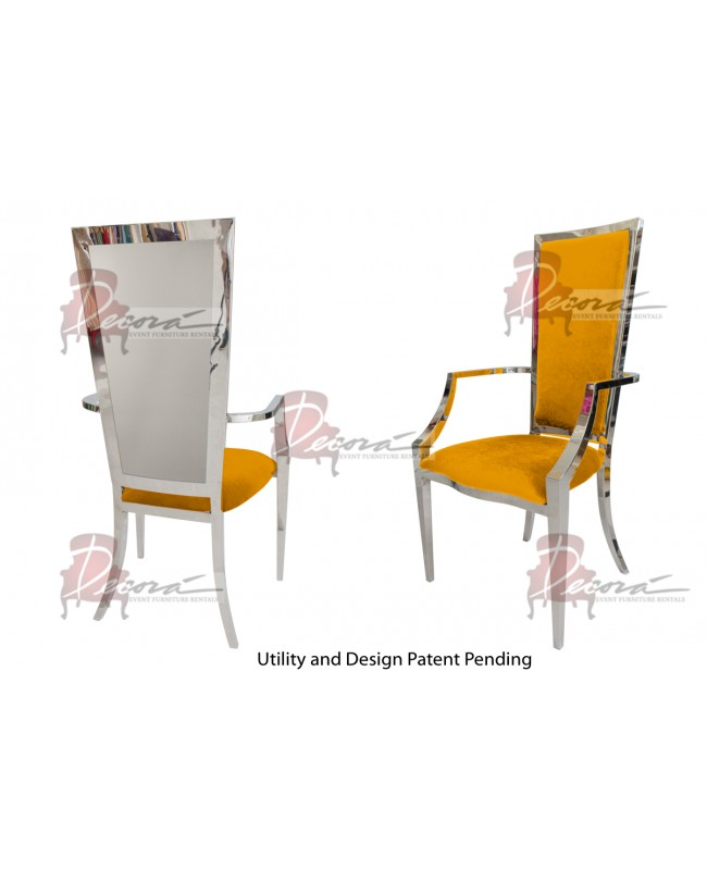 Reflection Armchair Rectangular (Silver-Yellow)