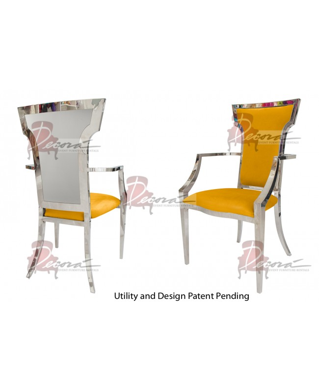 Reflection ArmChair Wings (Silver-Yellow)