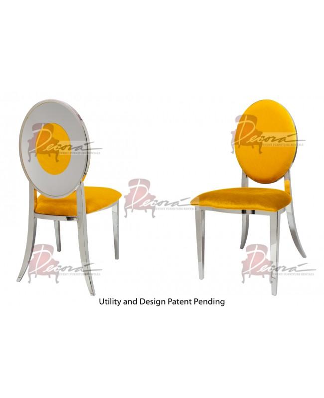 Oz Plus Chair (Silver-Yellow)