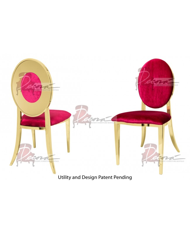 Oz Plus Chair (Gold-Red)