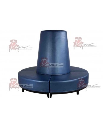 Contemporary Banquette (Round) (Blue)