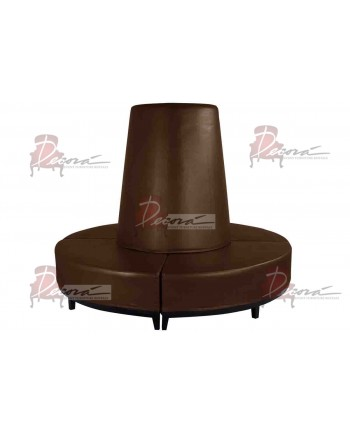 Contemporary Banquette (Round) (Brown)
