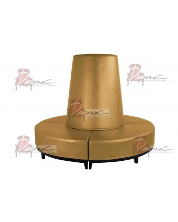 Contemporary Banquette (Round) (Gold)