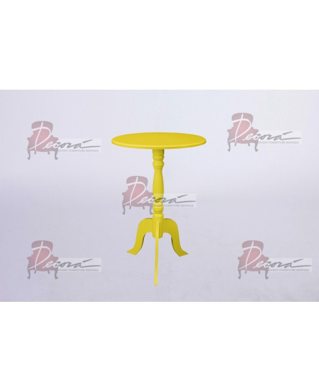 Contemporary End Table (Yellow)