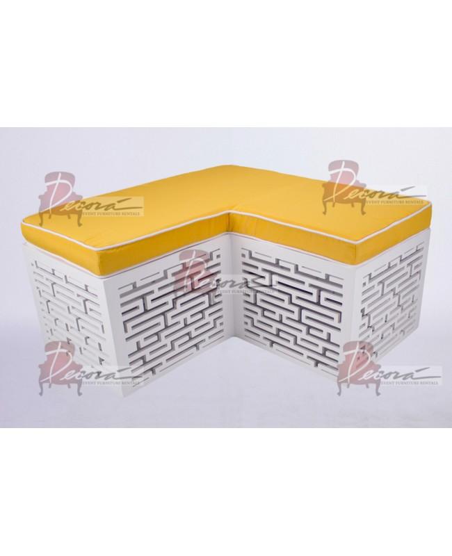 Maze Bench (L-Shape) (Yellow)