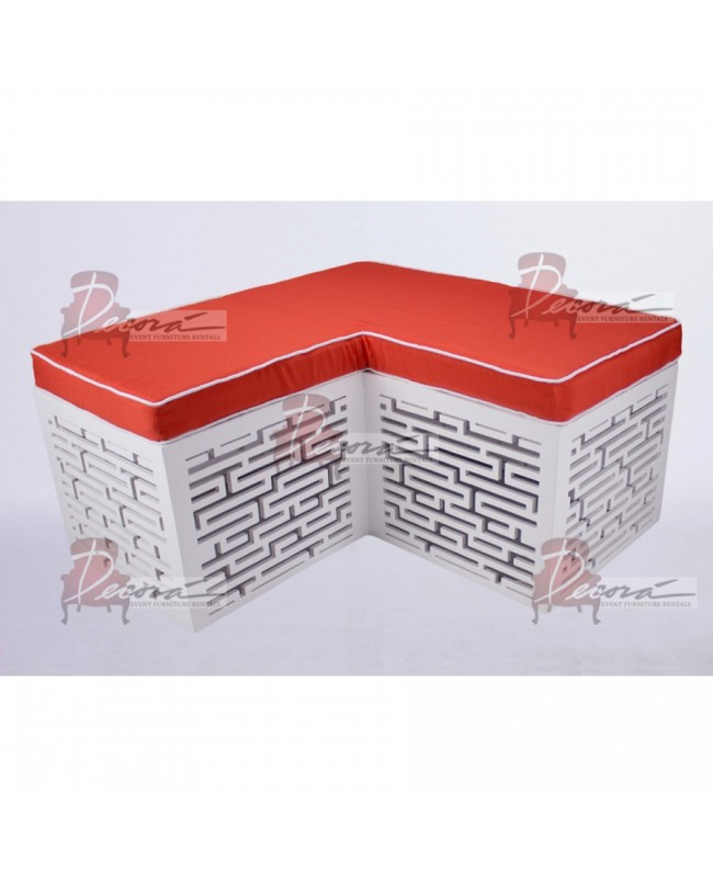Maze Bench (L-Shape) (White)