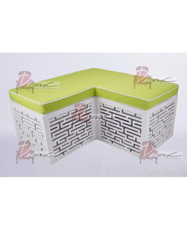 Maze Bench (L-Shape) (Lime Green)