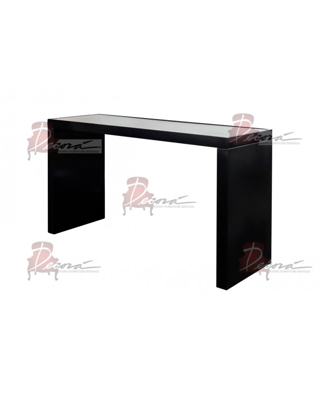 Reflection Highboy Table (U Shape) (Black)
