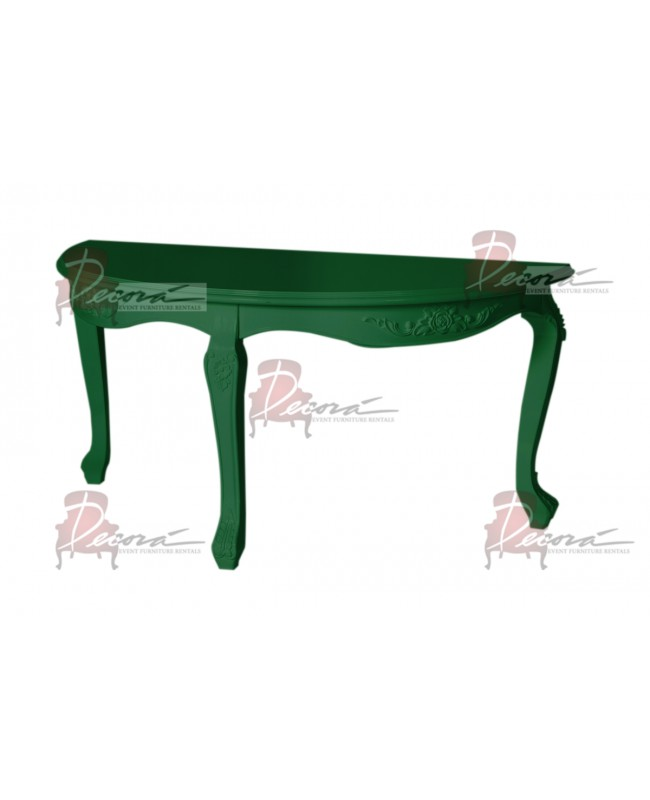 "Baroque Table 30"" D x 60""  W (Green)"