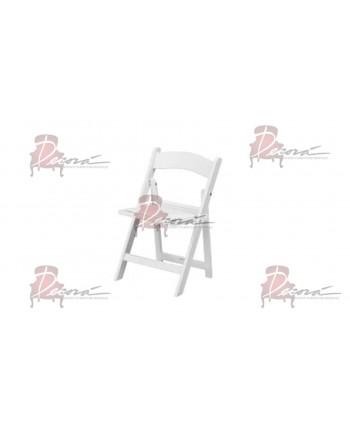 Resin Kid Folding Chair (White)