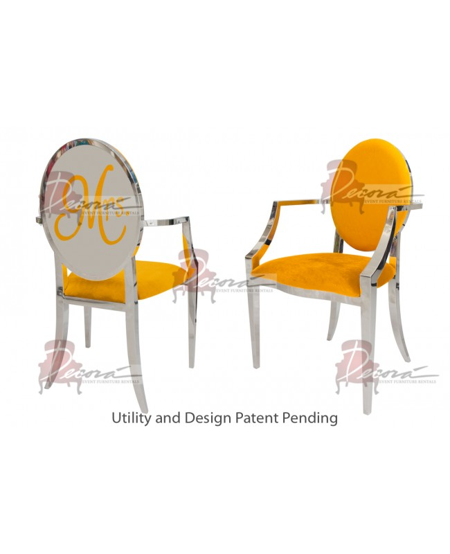 Mrs. Armchair (Silver-Yellow)