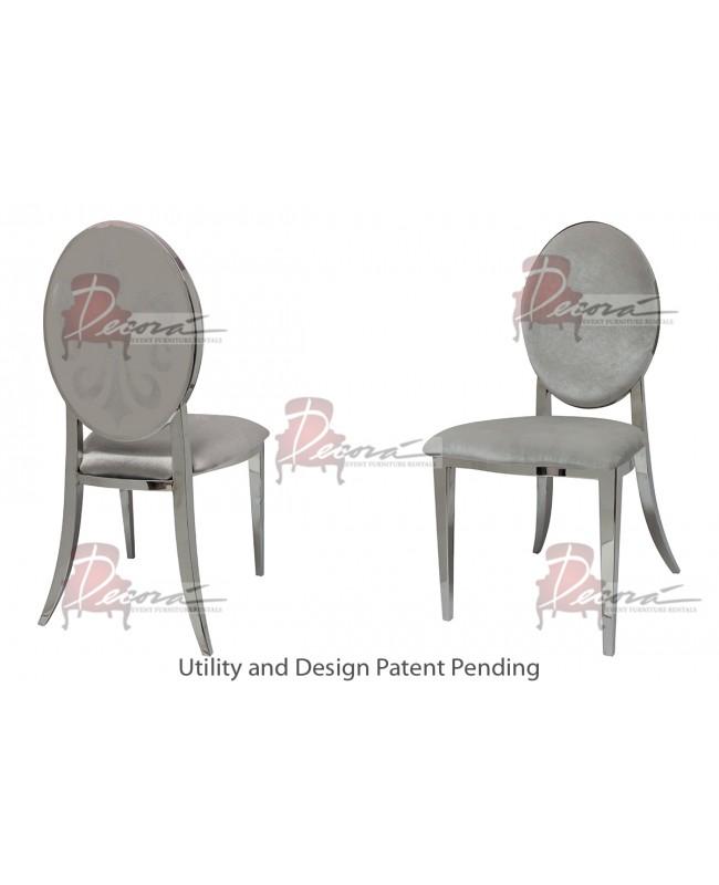 Fleur-de-lis Chair (Silver-Silver)