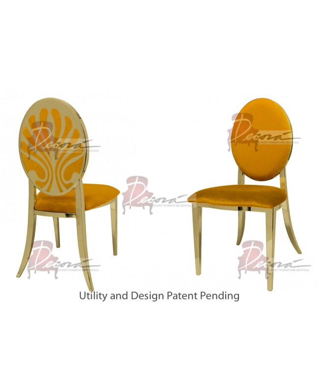 Nouveau Shell Chair (Gold-Yellow)