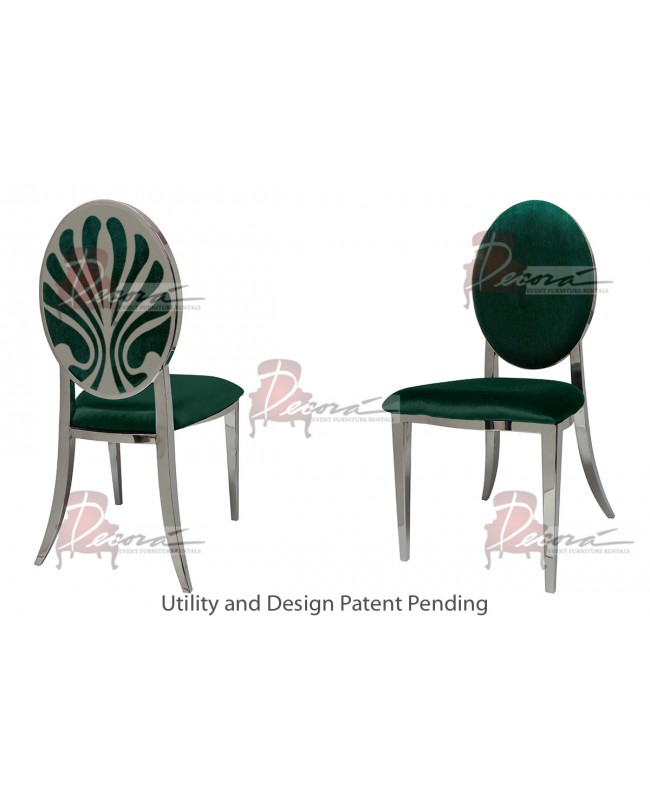 Nouveau Shell Chair (Silver-Emerald)