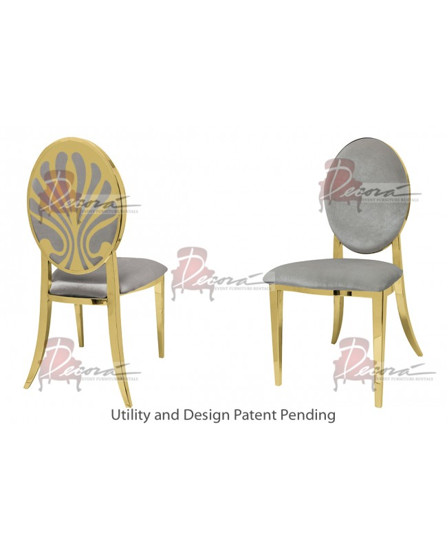 Nouveau Shell Chair (Gold-Silver)