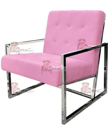 Reflection Rain Armchair (Silver - Lt.Pink Tufted)