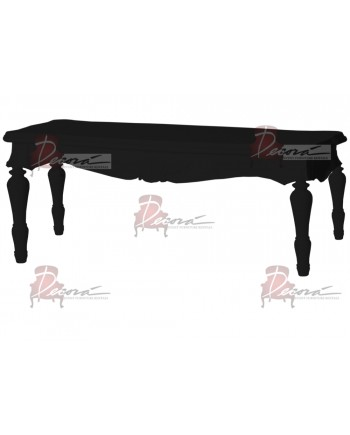 "Baroque Table 18""x48""x30""H (King)(Black)"