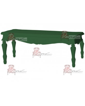 "Baroque Table 18""x48""x30""H (King)(Green)"