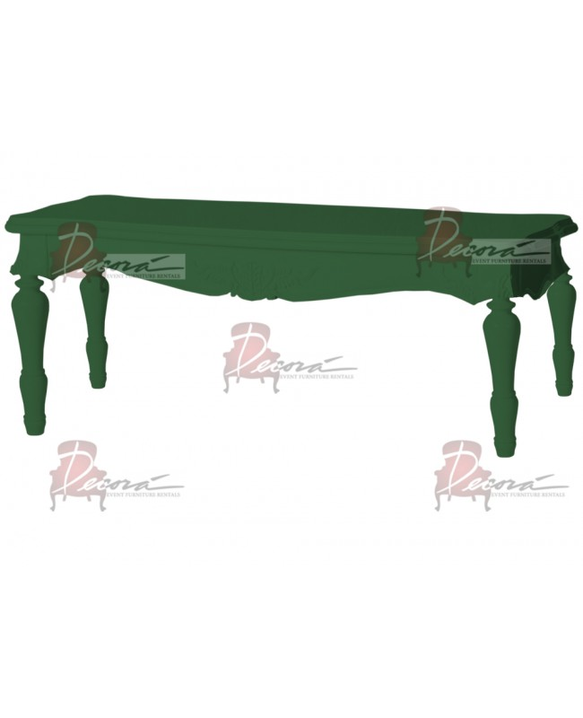 "Baroque Table 18""x48""x30""H (King)(Green)"