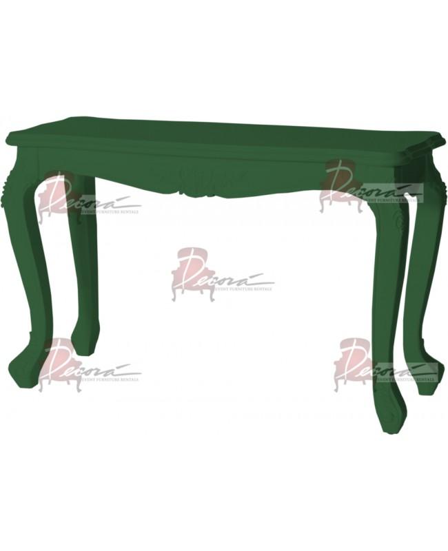 """Baroque Table 18""""x48""""x42""""H (Queen)(Green)"""