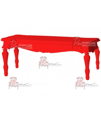 "Baroque Table 18""x48""x30""H (King)(Red)"