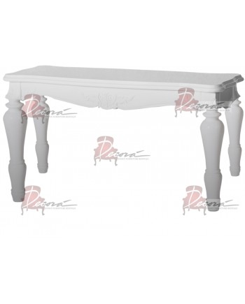 "Baroque Table 18""x48""x30""H (King)(Silver)"