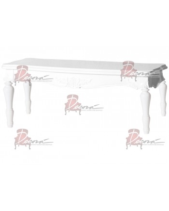 "Baroque Table 18""x48""x30""H (King)(White)"