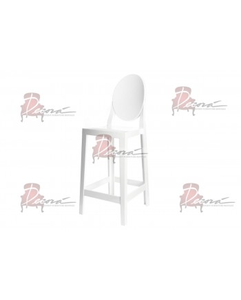 Ghost Barstool With Back (White)