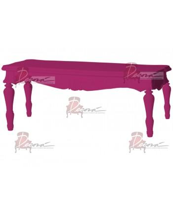 "Baroque Table 18""x48""x30""H (King)(Fuchsia"